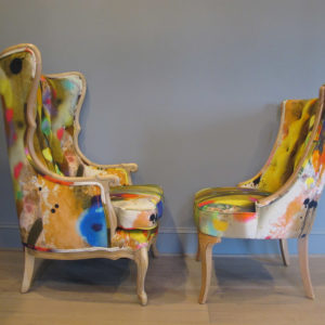 Penny Black graffiti chairs