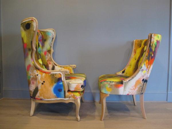 Penny Black graffiti chairs
